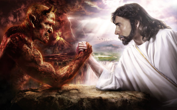 Religious connotations aside, let's call this one Good vs. Evil