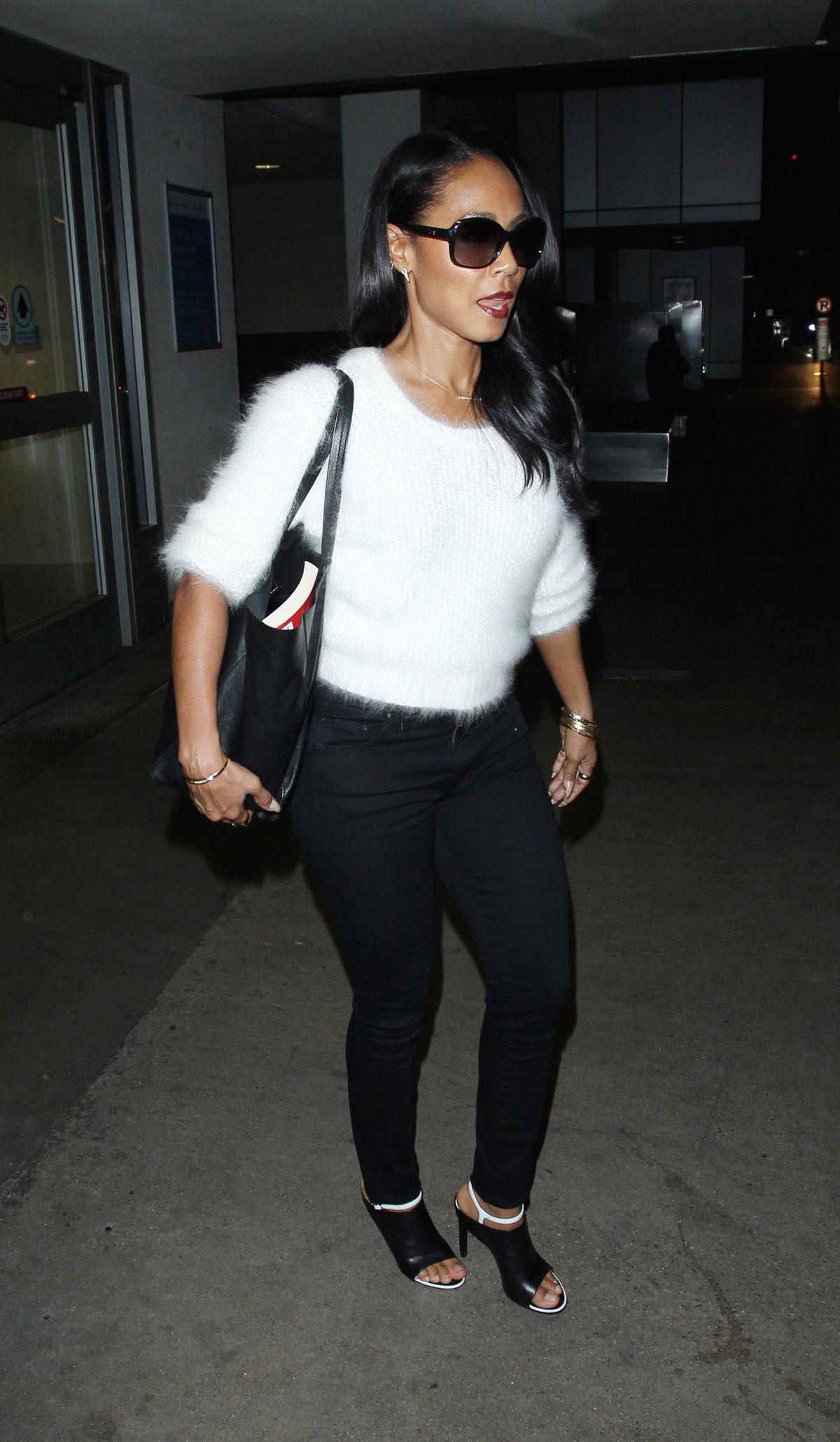 JADA PINKETT SMITH Arrives at LAX Airport in Los Amgeles