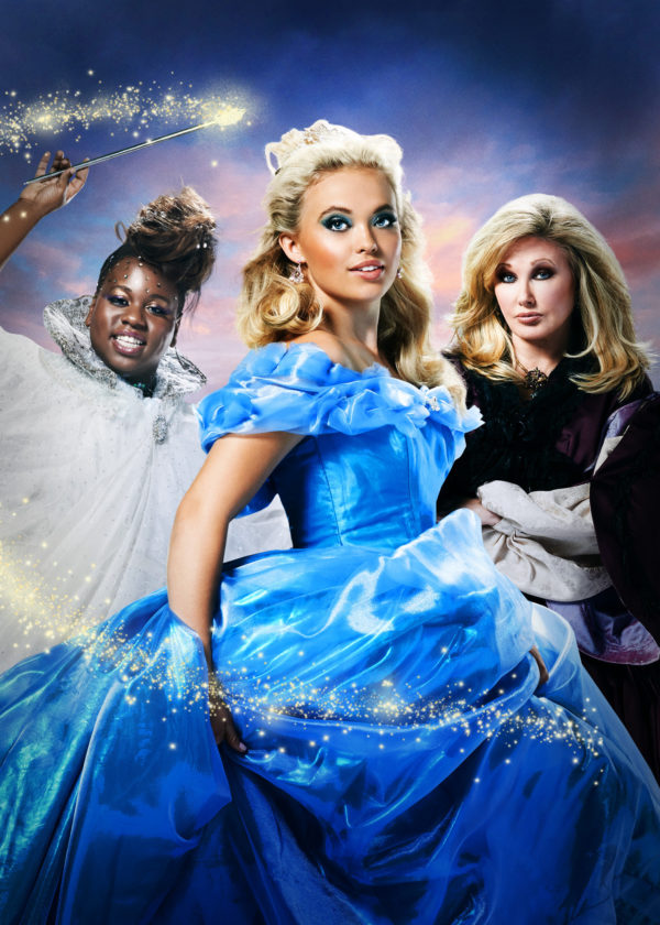 L-R: Alex Newell, Lauren Taylor, and Morgan Fairchild in A CINDERELLA CHRISTMAS Photo credit: F. Scott Schafer.)