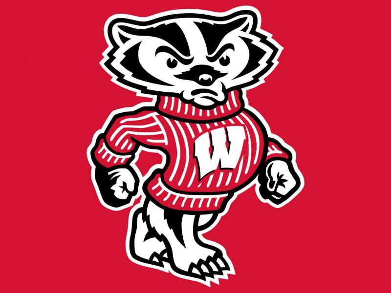 Bucky Badger, with no fucks left to give.