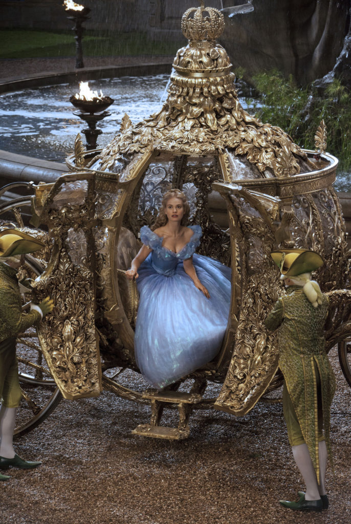 Lily James is Cinderella in Disney's live-action feature inspired by the classic fairy tale, CINDERELLA, which brings to life the timeless images in Disney's 1950 animated masterpiece as fully-realized characters in a visually-dazzlling spectacle for a whole new generation. Photo Credit: ©Disney Enterprise, Inc. All Rights Reserved
