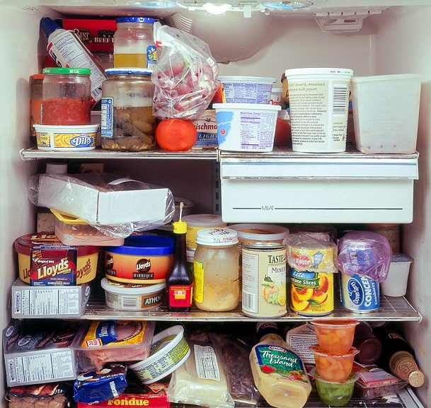 old food in fridge
