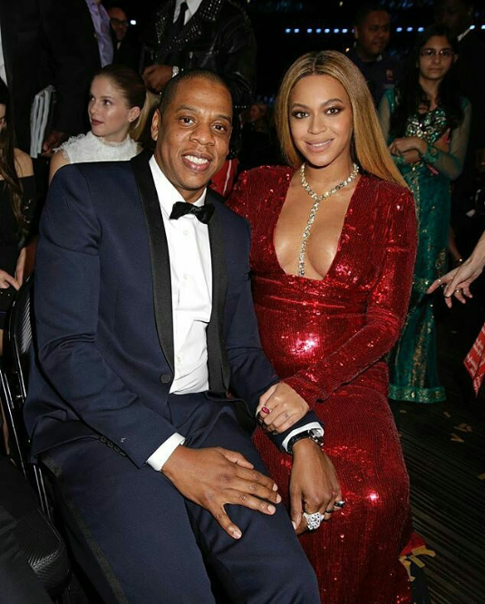 Beyonce with Jay Z
