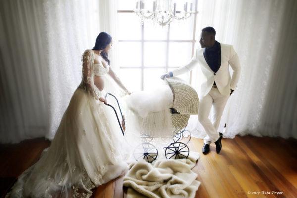 Azja with fiance, Cherif Ndiaye