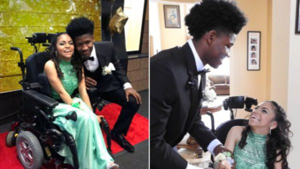 Teen takes BFF to prom