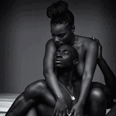 half-naked-embracing-Black-couple