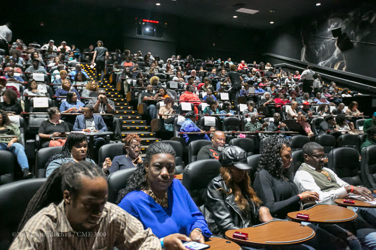 A full house in Charlotte for the advance screening at Studio Movie Grill on April 23, 2017. Photo credit: Christian Demar for National Geographic