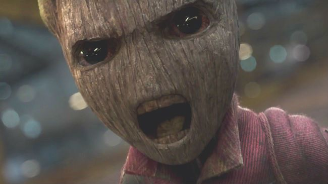 "I am Groot, or ""Put yo phone down, beeeatch!"""