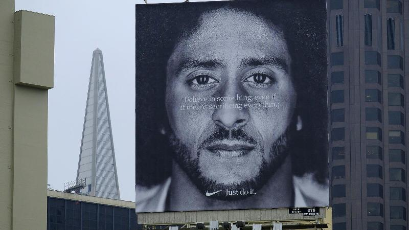 nike - kaepernick - ad on building
